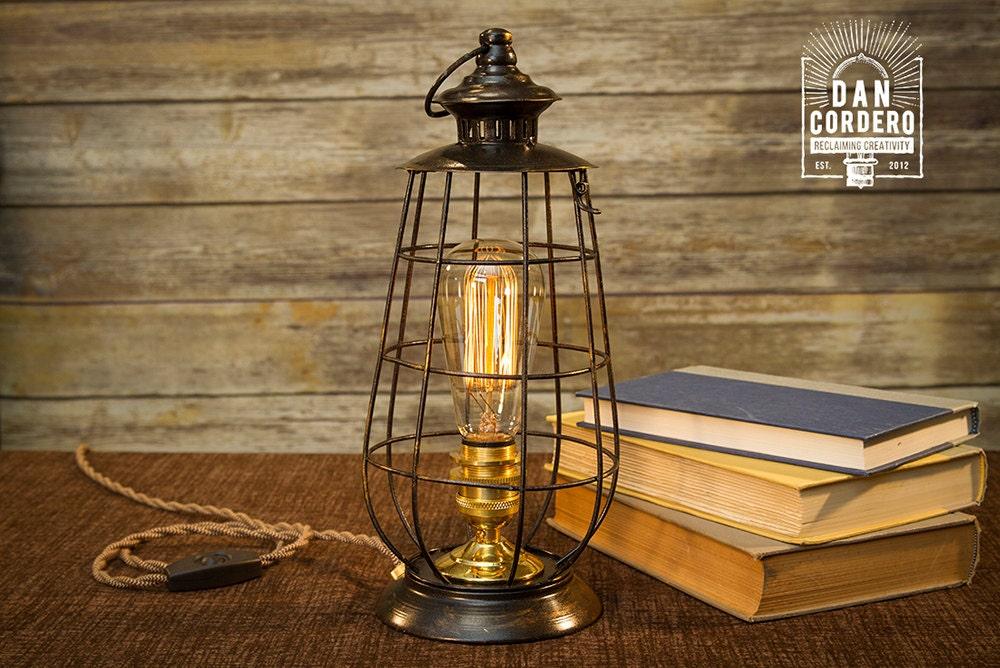 Edison lantern table lamp desk lamp night light bed zoom aloadofball Images