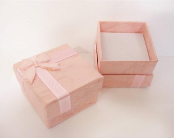 Jewellery Ring Gift Box x 10 pink