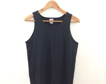 Vintage Faded Black Muscle Tank