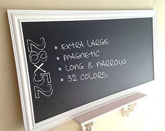 Merveilleux LARGE KITCHEN CHALKBOARD Framed Chalk Board Office Organizer Magnetic  Blackboard Modern Bulletin Board White Chalkboard Home Office Decor