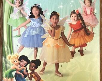 UNCUT Kid's, Girl's Disney Fairy Costume Sewing Pattern Simplicity 1792 Size 1/2-1-2-3-4-5-6-7-8 Halloween, Princess, Tinkerbell, Wings