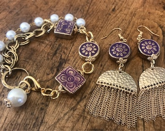 Gold and Purple, TJ, Mother's Day Gift Set