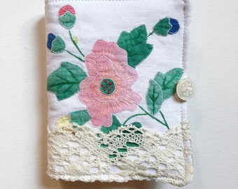 Needle book, needle case for sewing supplies, hand made, vintage fabric