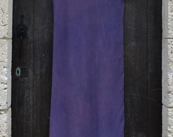 Purple dress holistic organic clothing alternative eco naturally dyed cotton tunic hippie earthy psy maternity festival permie boho minimal