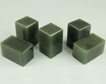 Free Shipping Chinese Seal Stamp Engraving  3x3x5cm Square Green - 10 Pcs Set - Seal Stamp Stone Soapstone 0012 Orientalartmaterial