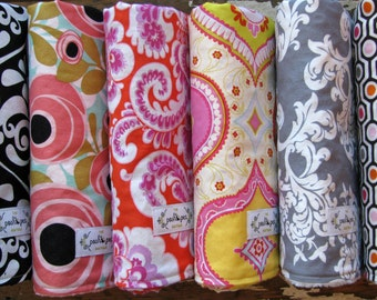 DESIGN YOUR OWN - Minky Baby Blanket or Chenille Baby Blanket - You choose from over 100 fabrics and size