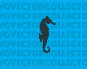 Seahorse Silhouette, SVG DXF EPS PnG, Clip Art, Instant Digital Download