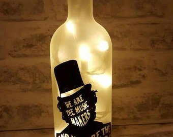 Willy Wonk Themed Bottle Lamp