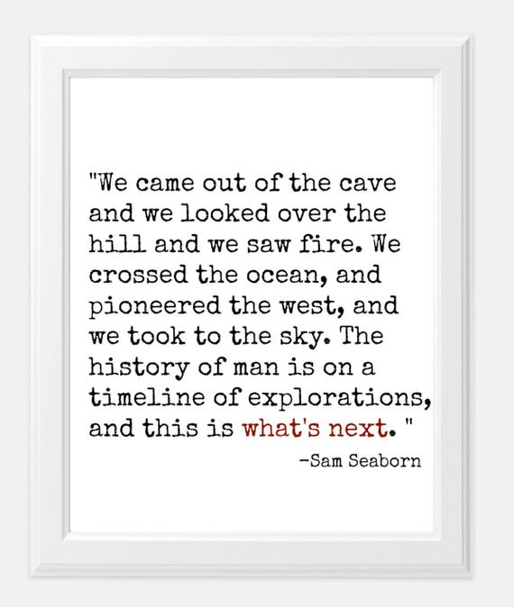 west wing quote print sam seaborn quote what's next west wing show art print 8x10 print tv show gift print