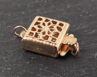 Gold Filled Square Filigree Clasp 8.5mm