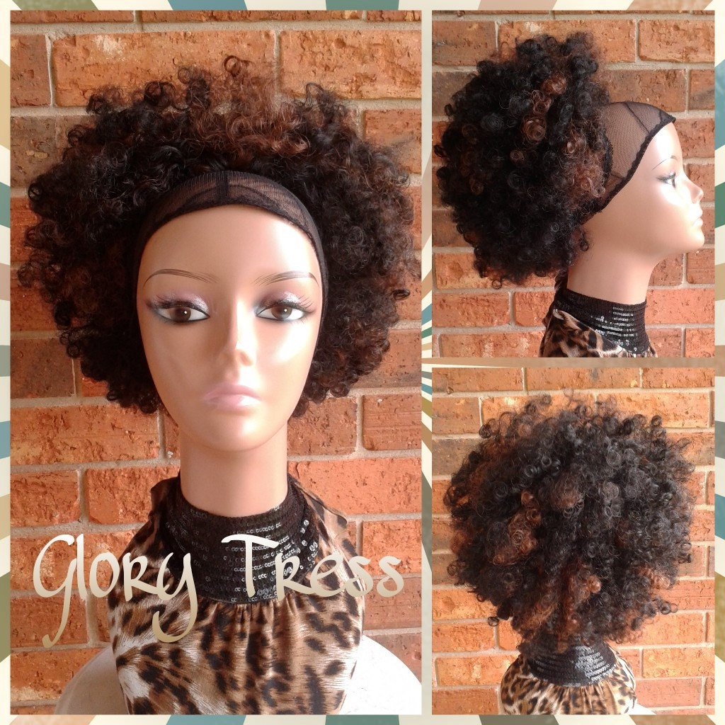 On Sale Kinky Curly Afro Drawstring Ponytail Ombre