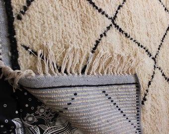 Beni ourain rug, Moroccan berber rug, vintage moroccan rug, 103x150 Cm, Wool berber carpet, moroccan style rugs, Beni ouarain rug