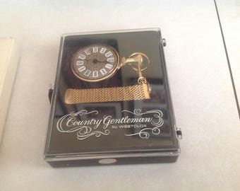 Vintage Country Gentleman pocket watch by Westclox, never out of box