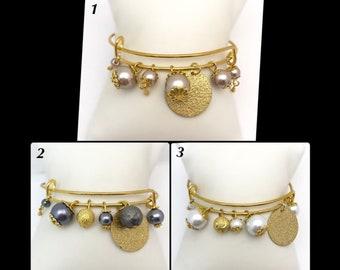 """Bangle"" memory of shaped glass beads"