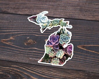 Michigan Succulent Decal