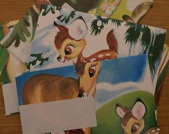 Disney Bambi Handmade Envelopes