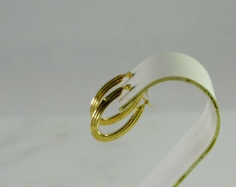 14 K Gold Hoop Pierced Earrings