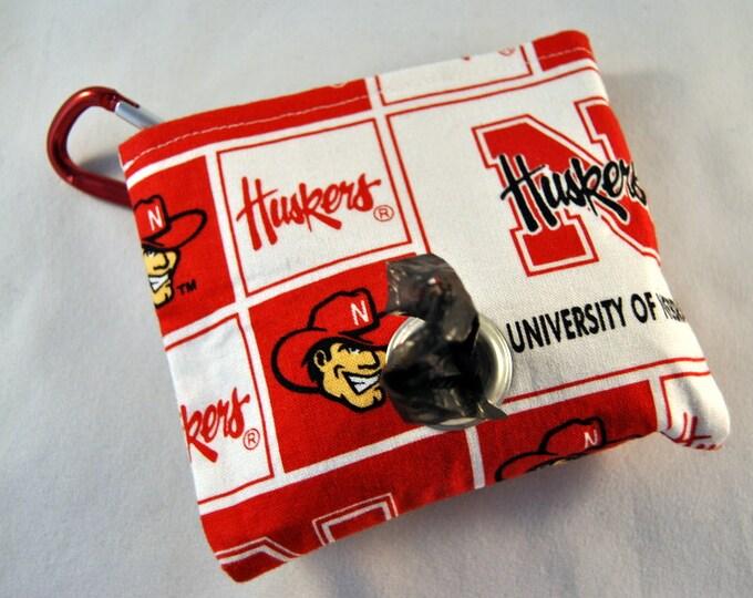 Nebraska Corn Huskers Poop Bag Pouch