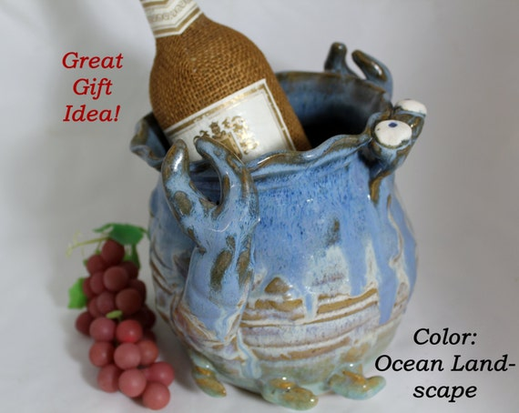 Crab Pot/ Bottle and Utensil Pot