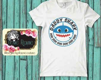 Daddy Shark, Mens Shirt, Mens T Shirt, Papa Bear, Shark Family, Family shirt, T Shirt, Bear family