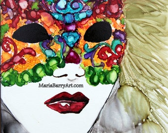 Carnival: Print from an Original Alcohol Ink Painting