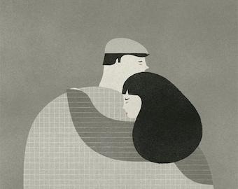 El abrazo print