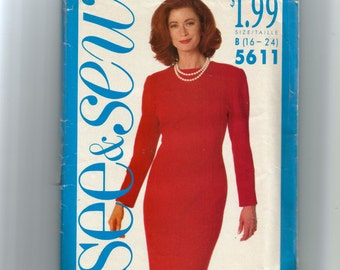 Butterick Misses' Dress Pattern 5611