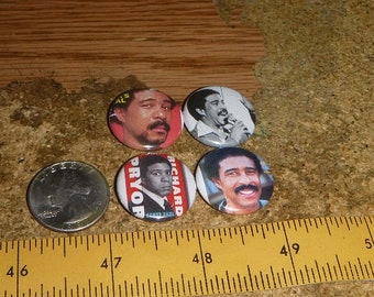 RICHARD PRYOR 4 one inch pin back buttons badge set