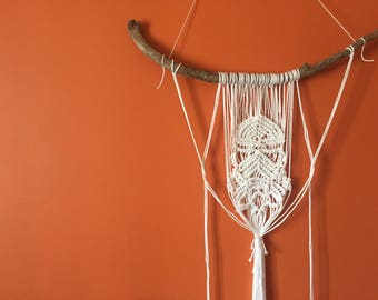 Stormtrooper macrame wall hanging.  All sticks are different!