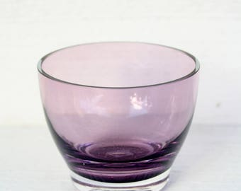 Vintage Party Lite Purple Glass Candle Holder