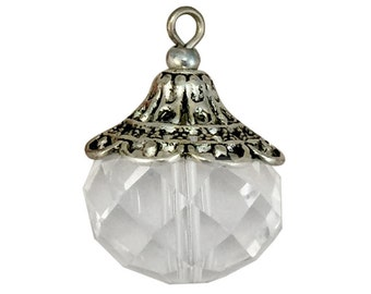 2 Clear Crystal Pendant 25x18mm by TIJC SP1378