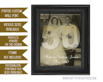 Custom 50th Wedding Anniversary Gift Print - 50th Anniversary Print - 50th Anniversary Ideas print 50th Anniversary gift for couple