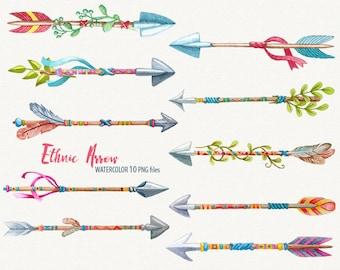 Ethnic Arrow Clipart Watercolor Arrow Clipart Wild ethnic clipart