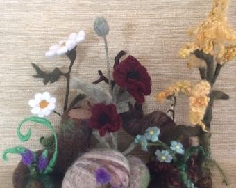 Wooly Wildflower Display
