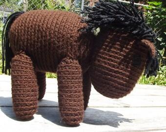 Handmade Crochet Stuffed Animal - Horse