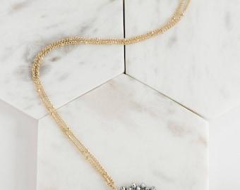 Gunmetal Beaded Sunburst Necklace, Beaded Necklace, Sunburst Necklace, Beaded Sunburst Necklace, Gold Necklace, Gold Beaded Necklace
