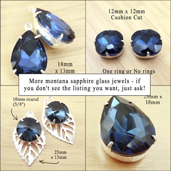 montana sapphire or navy blue glass jewels in my shop.... and a deal of the day sale