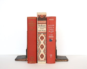 American Indian Books - American Indian Decor - Native American History - Vintage Book Bundle- Decorative Books - Native American Decor
