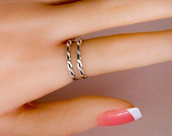 Sterling Silver Ring for Women, Stacking Ring, Adjustable Sterling Silver Ring, Minimalist Ring