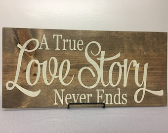 Homemade wood love themed sign newleywed gifts love