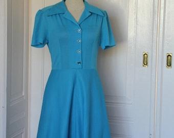 Vintage dress 60 's baby blue