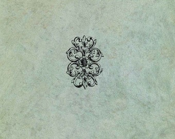 Ornate Floral Foliage Decorative Element  - Antique Style Clear Stamp