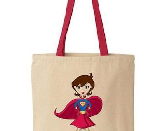 Super Mom - Cotton Canvas Tote Bag