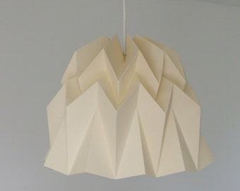 HAMA hanging lamp made of paper. Hanging in origami. Light in a Japanese spirit.
