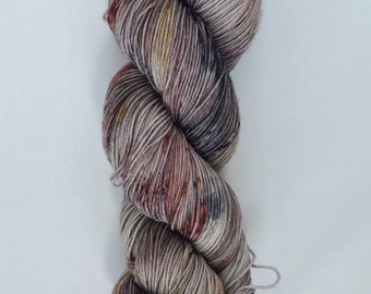 "Hand Dyed Yarn ""Orfos"" Brown, Black, Yellow, Burgundy"