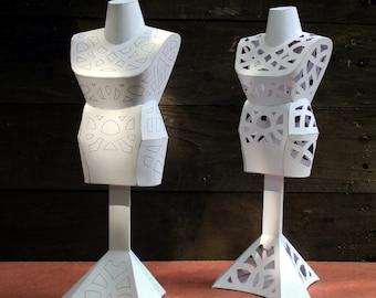 Papercraft Miniature Dressmakers Dummy - PDF download