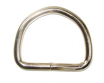 "Solid Dee 2"" (5.1 cm) Nickel Plated 10/pk"