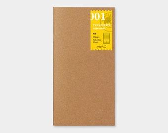 Traveler's Notebook Refill 001 Lined Notebook Refill for Regular Size Traveler's Notebook   Midori Insert (14245006)