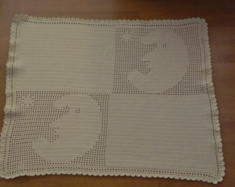 Made-to-Order crocheted baby blanket, Choose an image