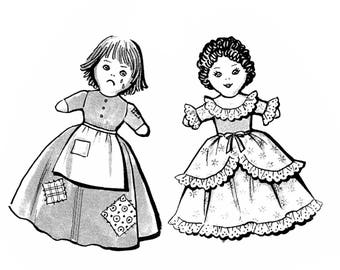 Cinderella Topsy Turvy Doll Pattern or Upside Down Cloth Doll Pattern PDF Instant Download ePattern